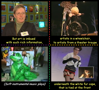 Mosaic of photographs from Culturall video